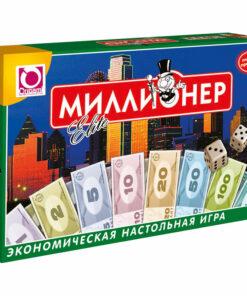 Игра настольная Origami «Экономическая. Миллионер-Elite», картонная коробка