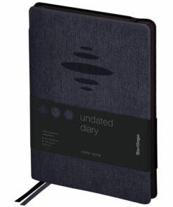 Ежедневник недатир. A5, 136л., кожзам, Berlingo «Color Zone», черн. срез, с резинкой, черный