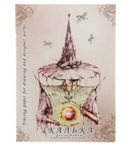 Калька для чертежных и дизайнерских работ, А4, 210х297 мм, 40 г/м2, в папке, 40 листов, КДР/А4