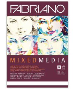 Альбом для рисования А4 (210х297 мм) FABRIANO «Mixed Media», мелкое зерно, 40 листов, 250 г/м2, 19100381