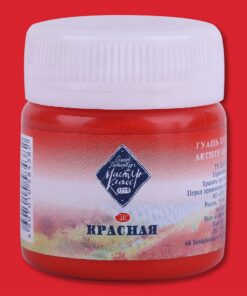 Красная гуашь МК 40мл Код: 1720331