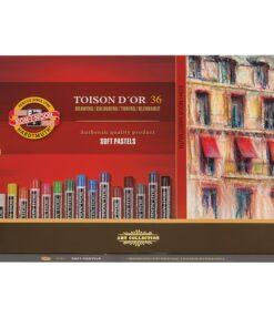 Пастель мягкая художественная KOH-I-NOOR «Toison D'or», 36 цвета, круглое сечение, 8515036005KS
