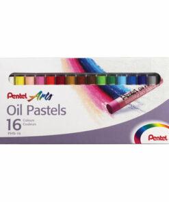 Пастель масляная художественная PENTEL «Oil Pastels», 16 цветов, круглое сечение, картонная упаковка, PHN4-16