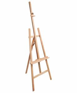 Мольберт напольный BRAUBERG ART «CLASSIC», бук, угол 60°, 63х174 (231) х 68 см, высота холста 126 см, 190652