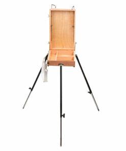 Этюдник BRAUBERG ART CLASSIC, бук, 40х25х7,5 см, высота холста 70 см, ножки металлические 90 см, ремень, 190655