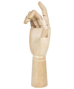 Манекен художественный BRAUBERG ART «CLASSIC», «Рука», высота 30 см, мужская правая, дерево, 191297