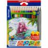 Карандаши цветные пластиковые Berlingo «Корабли», 18цв.+2 ч/г HB, заточен., картон, европодвес