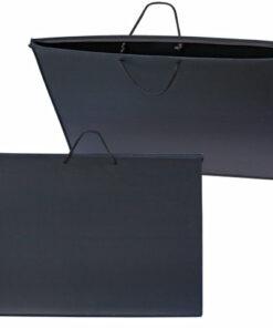 Папка для рисунков и чертежей А2, 640х470 мм, ПЧЕЛКА, с ручками, пластиковая, черная, ПМ-А2-35