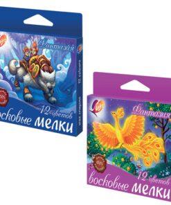 Восковые мелки ЛУЧ «Фантазия», 12 цветов, на масляной основе, картонная упаковка с европодвесом, 25С1520-08