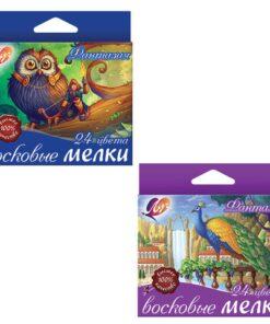 Восковые мелки ЛУЧ «Фантазия», 24 цвета, на масляной основе, картонная упаковка с европодвесом, 25С1521-08
