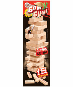 Игра настольная Десятое королевство «Башня. Бам-бум», с фантами, неокраш. дерев. блоки, с уголком