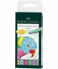 Набор капиллярных ручек Faber-Castell «Pitt Artist Pen Brush Pastel» ассорти,6шт., пласт. уп.