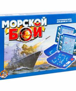 Игра настольная Десятое королевство «Морской бой», пластик, картонная коробка