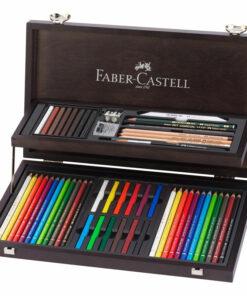 Набор художественных изделий Faber-Castell «Art & Graphic Compendium», 54 предмета, дерев. пенал