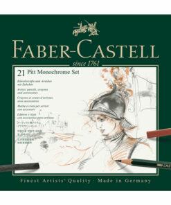 Набор художественных изделий Faber-Castell «Pitt Monochrome», 21 предмет, метал. кор.