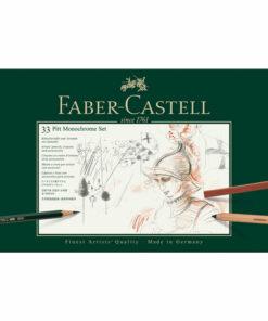 Набор художественных изделий Faber-Castell «Pitt Monochrome», 33 предмета, метал. кор.