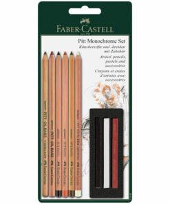 Набор художественных изделий Faber-Castell «Pitt Monochrome», 9 предметов, блистер
