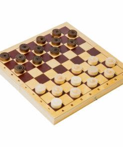 Игра настольная Шашки, Орловские шахматы, деревянные, с доской
