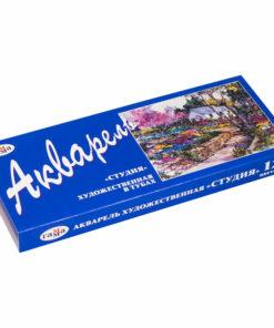 Акварель Гамма «Студия»,  художественная, 12 цветов, 9мл/туба, картон