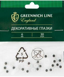 Материал декоративный Greenwich Line «Глазки», 06мм, 30шт.