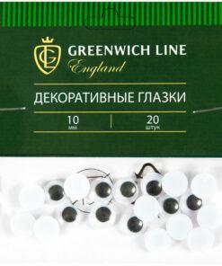 Материал декоративный Greenwich Line «Глазки», 10мм, 20шт.