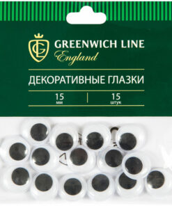 Материал декоративный Greenwich Line «Глазки», 15мм, 15шт.