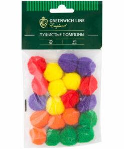 Материал декоративный Greenwich Line «Помпоны пушистые», 25мм, 20шт.