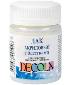 Лак акриловый с блестками Decola, 50мл