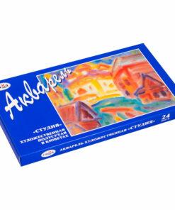 Акварель Гамма «Студия», художественная, 24 цвета, кюветы, картон