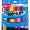 Карандаши цветные Maped «Color Peps», 24цв., трехгран., заточен., картон, европодвес