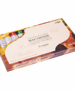 Краски масляные Гамма «Студия», 09 цветов, 46мл/туба, картон