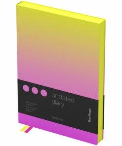 Ежедневник недатир. A5, 136л., кожзам, Berlingo «Radiance», желтый/розовый градиент