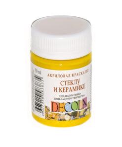 Акрил стекло керамика Декола 50мл. Желтая