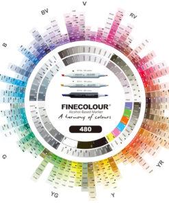 Маркеры для скетчинга FINECOLOUR BRUSH