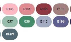 Базовый набор маркеров Finecolour Sketch 24 цвета для скетчей в пенале (вариант 3)