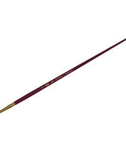 Кисть художественная, синтетика бордовая, Гамма «Вернисаж», круглая, длинная ручка №10
