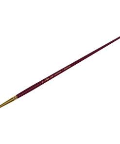 Кисть художественная, синтетика бордовая, Гамма «Вернисаж», круглая, длинная ручка №16