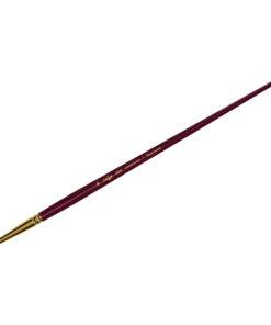 Кисть художественная, синтетика бордовая, Гамма «Вернисаж», круглая, длинная ручка №18