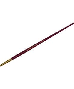 Кисть художественная, синтетика бордовая, Гамма «Вернисаж», круглая, длинная ручка №20