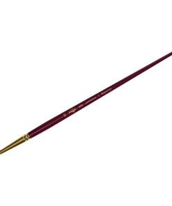 Кисть художественная, синтетика бордовая, Гамма «Вернисаж», круглая, длинная ручка №22