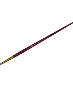 Кисть художественная, синтетика бордовая, Гамма «Вернисаж», круглая, длинная ручка №24