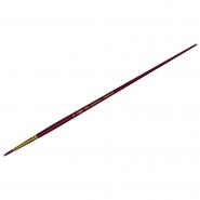 Кисть художественная, синтетика бордовая, Гамма «Вернисаж», круглая, длинная ручка №12