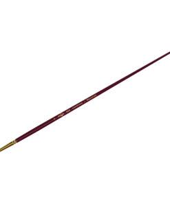 Кисть художественная, синтетика бордовая, Гамма «Вернисаж», круглая, длинная ручка №6