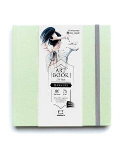 Скетчбук для маркеров «Fashion» МАЛЕВИЧЪ, мятный, 75г/м2, 15х15см, 80 листов