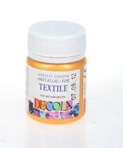 Краска по ткани акриловая Decola 50 мл золотая