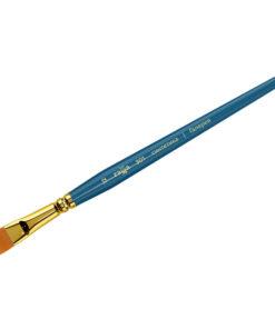 Кисть художественная, синтетика, Гамма «Галерея», плоская, короткая ручка №12
