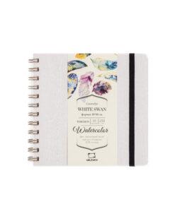 Скетчбук Малевичъ для акварели White Swan, серый, Torchon, 250 г/м, 16х16, 20л