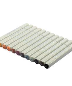 Набор маркеров для творчества Vista-Artista «Style» 12цв., пулевидный/скошенный, 0,7мм/1-7мм, Архитектура
