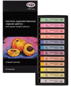 close Пастель художественная Гамма «Старый мастер. Яркие цвета», 12 цветов, картон. упак.